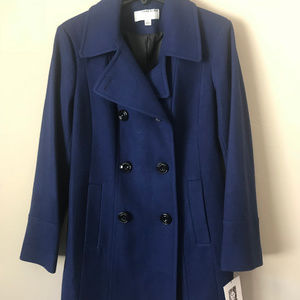 NEW ANNE KLEIN Classic Double Breasted Coat Size L